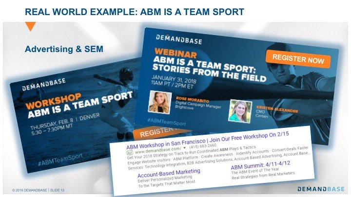 ABM Team Sport Ads SEM