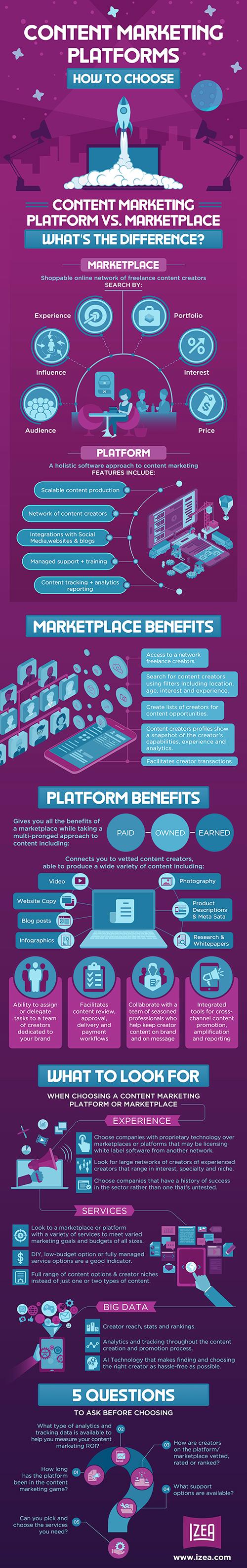 Infographic Content Marketing Platform WEB 1