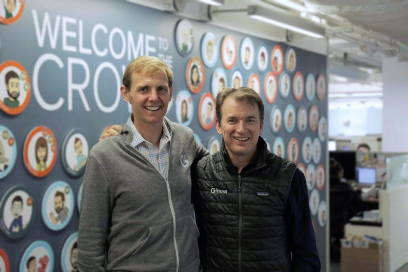From left to right: Godard Abel, CEO, and Tim Handorf, President of G2 Crowd (Source: G2 Crowd)