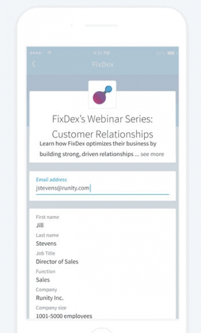 LinkedIn Launches Lead Gen Forms For Sponsored Content Campaigns