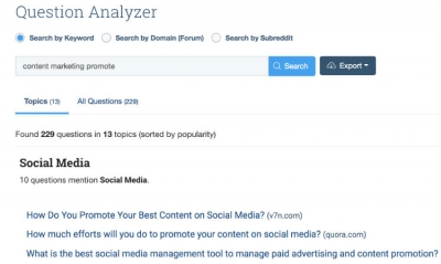 BuzzSumo Launches Question Analyzer For Content Production