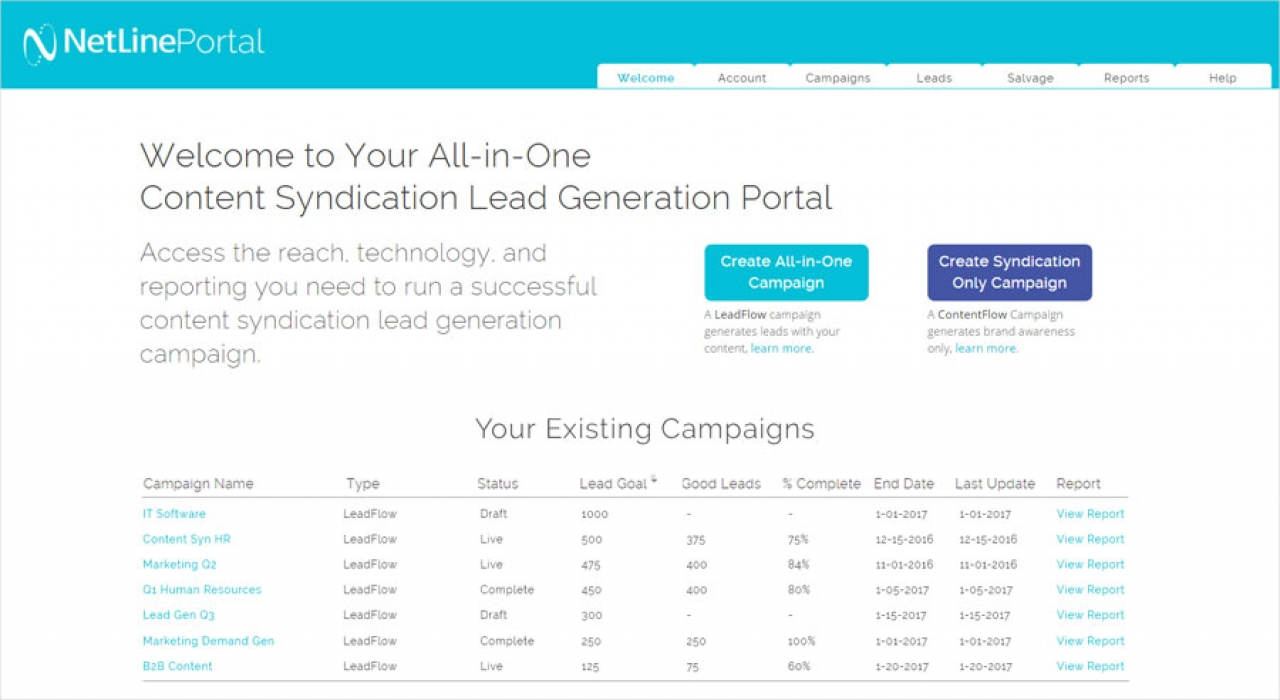 NetLine Launches Portal For Lead Gen Campaigns