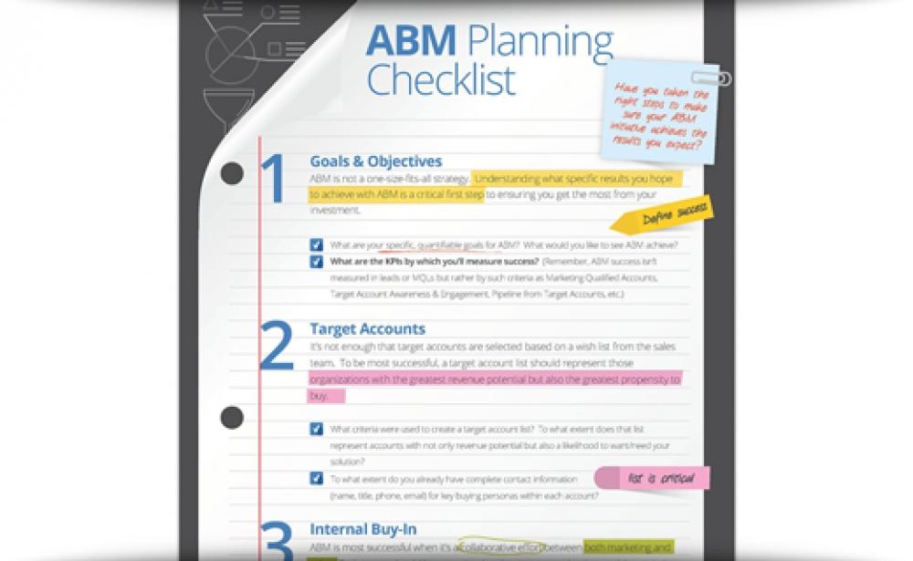 The ABM Planning Checklist