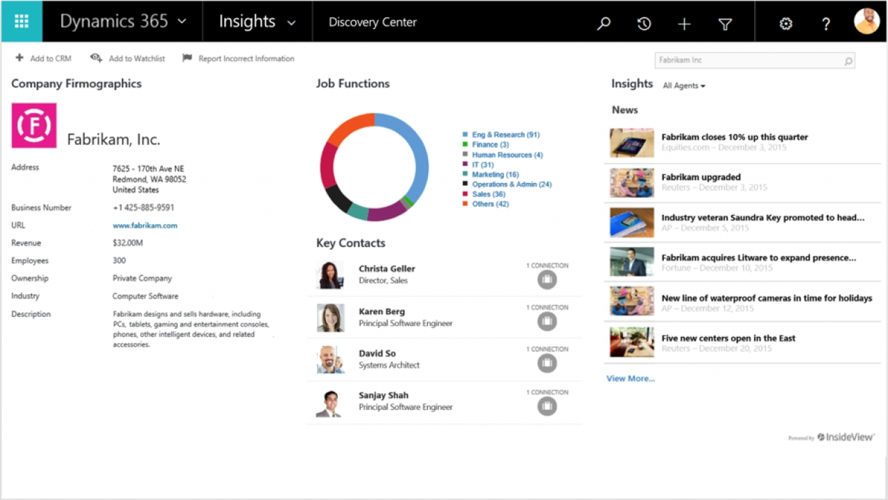 InsideView Introduces Insights Enterprise For Microsoft Dynamics Customers