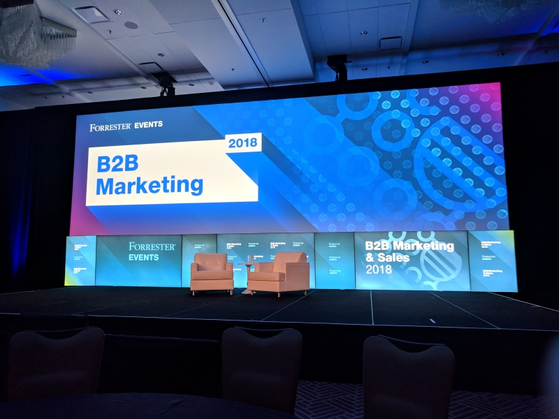 Forrester B2B Marketing & Sales 2018: Meeting The Business Consumer On Their Terms Requires Dynamic, Customer-First Experiences