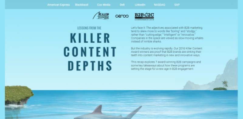 Creative Lessons From 2016 B2B Killer Content Award Winners