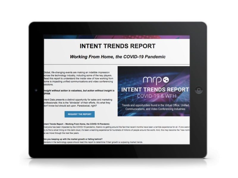 MRP Unveils Intent Trends Report