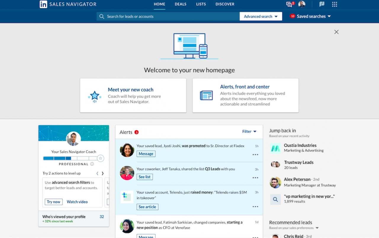 LinkedIn Looks To Boost Sales Efficiency With New Sales Navigator Homepage, Enhanced Microsoft Integration